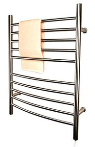 "Amba RWP-CB Radiant Plug-in Curved 31 1/2"" H x 23 3/4"" W Bathroom Towel Warmer - Brushed Stainless"