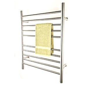 "Amba RWP-SP Radiant Plug-in Straight 31 1/2"" H x  23 3/4"" W Bathroom Towel Warmer - Polished Stainless"