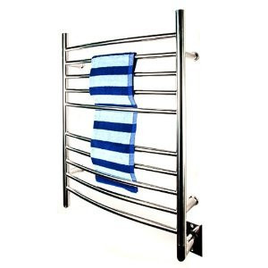 "Amba RWH-CP Radiant Hardwired Curved 31 1/2"" H x 23 3/4"" W Bathroom Towel Warmer - Polished Stainless"