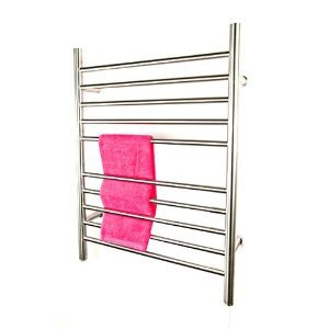 "Amba RWP-SB Radiant Plug-in Straight 31 1/2"" H x  23 3/4"" W Bathroom Towel Warmer - Brushed Stainless"