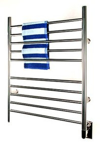 "Amba RWH-SB Radiant Hardwired Straight 31 1/2"" H x  23 3/4"" W Bathroom Towel Warmer - Brushed Stainless"