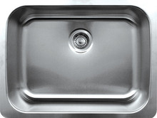 """Whitehaus WHNU2519 25 1/4"""" Noah's Collection Single Bowl Undermount Kitchen Sink - Brushed Stainless Steel"""