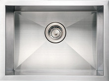 "Whitehaus WHNCM2015 20"" Noah's Collection Commercial Single Bowl Undermount Kitchen Sink - Brushed Stainless Steel"
