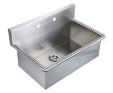 "Whitehaus WHNC3120 31"" Noah's Collection Commercial Drop-in Laundry / Scrub Sink - Brushed Stainless Steel"
