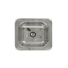 "Whitehaus WH693ABL 14 3/4"" x 12 3/4"" Rectangular Drop-in Bar Prep Sink Smooth Surface - Polished Stainless Steel"