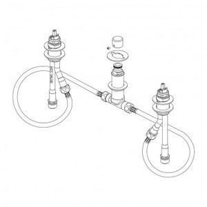 Delta R26066 Delta 4-Hole Roman Tub Rough-In Valve Kit