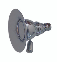 "Whitehaus WHOSA30-4.3-C 4 3/4"" Showerhaus Round Rainfall Showerhead With Spray Holes - Polished Chrome"