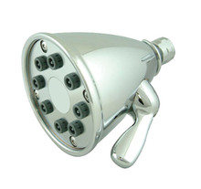 "Whitehaus WH139-C 4 3/4"" Showerhaus Showerhead - Solid Brass With 8 Spray Jets - Polished Chrome"