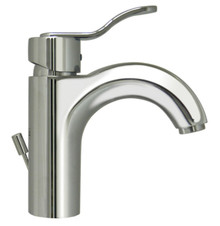 Whitehaus 3-04040C Wavehaus Single Handle Lavatory Faucet With Pop-up Drain - Choice of Finish Colors