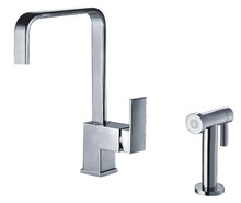 Whitehaus WH2070824 Jem Single Handle Kitchen Faucet With Side Spray - Choice of Finish Colors
