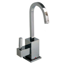 Whitehaus WHSQ-H003 Q-haus Square Instant Hot Water Dispenser Faucet & Self Closing Handle - Choice of Finish Colors