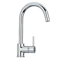 Whitehaus WHLX78572 Luxe Single Hole/Single Lever Faucet With Gooseneck Spout - Choice of Finish Colors