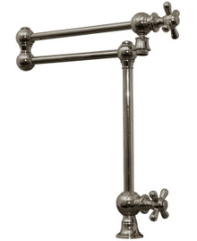 Whitehaus WHKPFDCR3-9555 Vintage Iii Deck Mount Pot Filler With Cross Handles & Swivel Aerator - Choice of Finish Colors