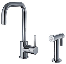 Whitehaus WH2070826 Jem Single Handle Kitchen Faucet & Side Spray - Choice of Finish Colors