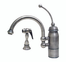 Whitehaus 3-3170 New Horizon Single Handle Kitchen Faucet & Side Spray - Chrome