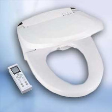 Blooming Bidet NB-R1063-EW White Elongated Bidet Toilet Seat with Remote - Hygiene - Instant Heat
