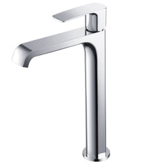 Fresca FFT3902CH Single Hole Vessel Mount Bathroom Vanity Faucet - Chrome