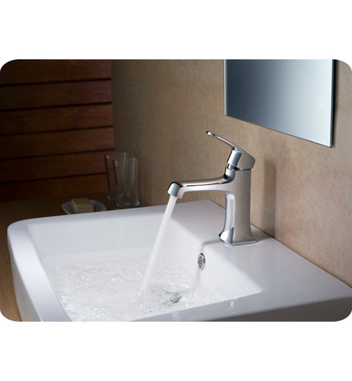 Fresca FFT3501CH Single Hole Mount Bathroom Vanity Faucet - Chrome
