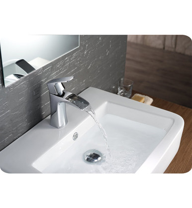 Fresca FFT3071CH Single Hole Mount Bathroom Vanity Faucet - Chrome