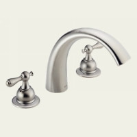 Delta T2783-SSLHP Two Handle Roman Tub Faucet -  Stainless