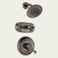 Delta T18T240-PT Single Handle Jetted Shower Faucet -  Aged Pewter