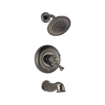 Delta T17T440-PT Single Handle Tub & Shower Faucet -  Aged Pewter