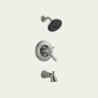 Delta T17T438-SS Single Handle Tub & Shower Faucet -  Stainless