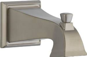 Delta Faucet - P52148 SS  Square Diverter Tub Spout - Stainless Steel