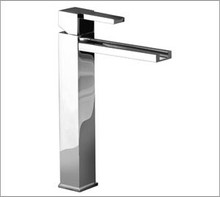 Aquabrass 77320PC Tall Single Handle Vessel Faucet With Pop Up Drain - Chrome