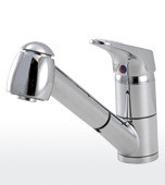 Aquabrass Condo 20243PC Pull Out Spray Kitchen Faucet - Chrome