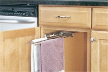 Richelieu 56347C Three Prong Pull-Out Towel Bar for Inside Cabinet - Chrome or White