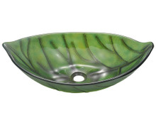 "Polaris P906 Green Leaf Lavatory Vessel Sink 23 1/4"" Diameter"