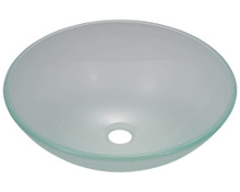 "Polaris P206 Frosted Glass Lavatory Vessel Sink 16 1/2"" Diameter"