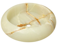 "Polaris P658 Stone Vessel Sink 16"" Diameter - White Onyx"