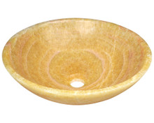 "Polaris P358 Stone Vessel Sink 16 1/2"" Diameter - Honey Onyx"