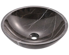 "Polaris P158 Granite Stone Vessel Sink 16 1/2"" Diameter - Marble"