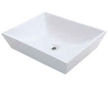 "Polaris P073VW Porcelain Bathroom Vessel Sink 19 5/8"" W x 16"" L - White"