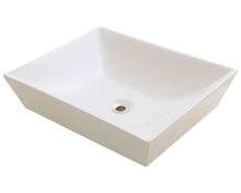 "Polaris P073VB Porcelain Bathroom Vessel Sink 19 5/8"" W x 16"" L - Bisque"