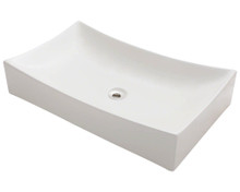 "Polaris P033VB Porcelain Bathroom Vessel Sink 25 1/2"" W x 15 3/4"" L - Bisque"