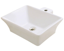 "Polaris P092VB Porcelain Bathroom Vessel Sink 18 3/4"" W x 17 1/4"" L - Bisque"