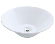 "Polaris P022VW Porcelain Bathroom Vessel Sink 17 1/8"" Diameter - White"
