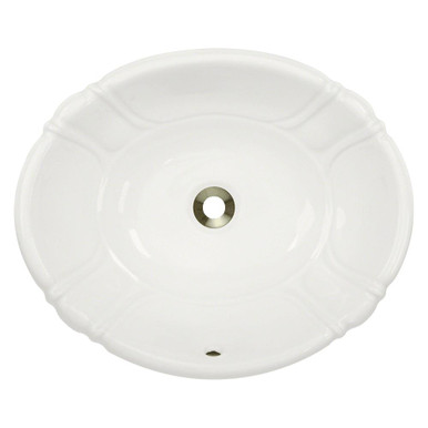"Polaris P5181OB Bisque Porcelain Bathroom Sink 19 7/8"" W x 16 3/8"" L - Topmount or Vessel"