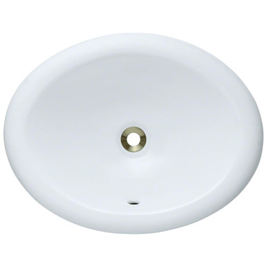"Polaris P7191OW White Overmount Porcelain Bathroom Sink 19 1/2"" W x 15 3/8"" L"