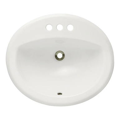 "Polaris P8102OB Bisque Overmount Porcelain Bathroom Sink 20"" W x 18"" L"