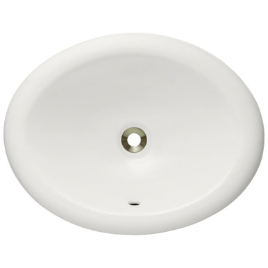 "Polaris P7191OB Bisque Overmount Porcelain Bathroom Sink 19 1/2"" W x 15 3/8"" L"