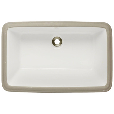 "Polaris P2181UB Bisque Rectangular Undermount Bathroom Sink ÿ21"" W x 13 1/2"" L"