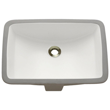 "Polaris P3191UB Bisque Undermount Rectangular Porcelain Bathroom Sink ÿ17"" W x 17  1/2"" L"