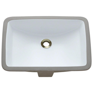"Polaris P3191UW White Undermount Rectangular Porcelain Bathroom Sink 17"" W x 17  1/2"" L"