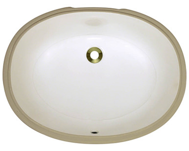 "Polaris PUPLB Bisque Undermount Porcelain Bathroom Sink 22"" W x 16 3/4"" L x 7 3/4"" D"