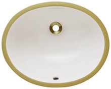 "Polaris PUPSB Undermount Porcelain Bathroom Sink ÿ16 1/2"" W x 13 1/8"" L  - Bisque"